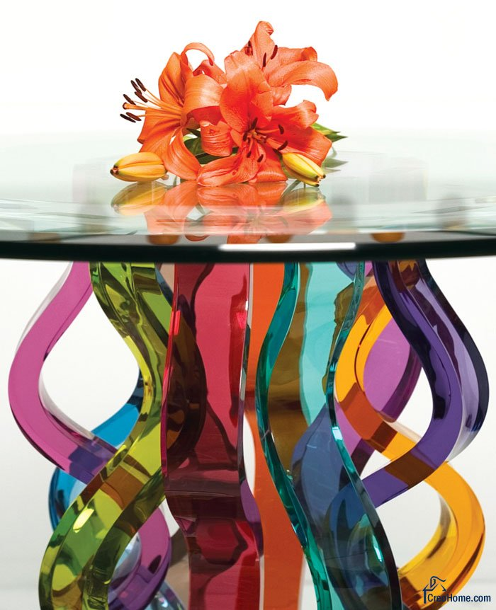 Beautiful glass bar tables by h.studio - digsdigs.
